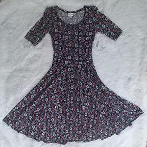 NWT LuLaRoe Nicole Floral Dress XS 2-4